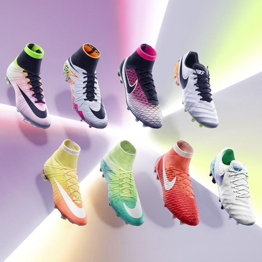 Nike Reveal Pack Herren u. Damen 2016: Mercurial Superfly IV, Hypervenom II Phantom, Magista Obra und Tiempo VI