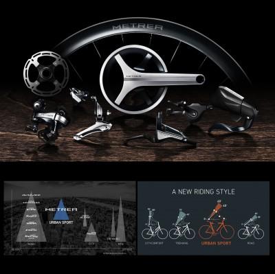 METREA, die neue Komponentenserie speziell fr Urban Bikes, Line up Chart, neue Sitzposition 2016 von Shimano