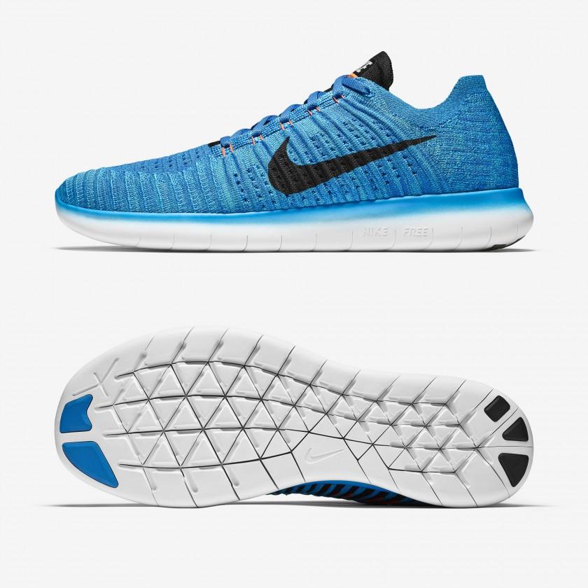 Nike Free RN Flyknit Laufschuhe Herren seite, sohle 2016