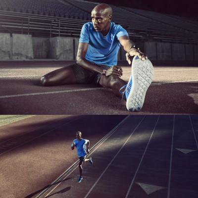 Mo Farah im Nike Free RN Flyknit Laufschuh 2016