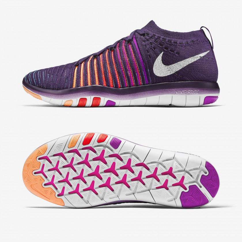 Nike Free Transform Flyknit Fitnessschuhe Damen seite, sohle 2016