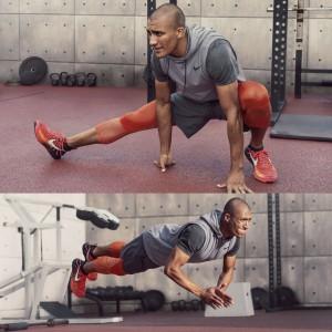 Ashton Eaton beim Training im Nike Free Train Force Flyknit Fitnessschuh 2016