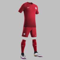 Polen Auswrtstrikot, Shorts u. Stutzen fr die EM 2016 von Nike