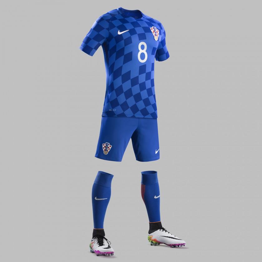 Kroatien Auswärtstrikot, Shorts u. Stutzen für die EM 2016 von Nike
