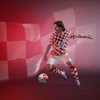 Luka Modric im Heimtrikot von Kroatien fr die EM 2016 von Nike
