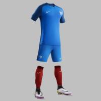 Frankreich Heimtrikot, Shorts u. Stutzen fr die EM 2016 von Nike