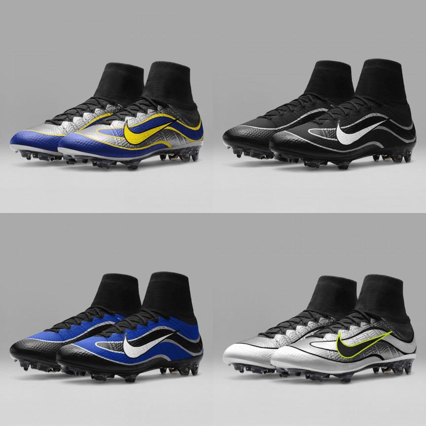 Mercurial Superfly IV Heritage iD gelb/blau, schwarz/weiß, schwarz/blau, weiß/silber 2016 von Nike
