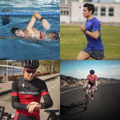 Javier Gomez Noya mit der V800 Triathlon Special Edition schwarz 2016 von Polar