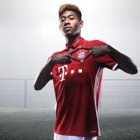 David Alaba im FC Bayern Mnchen Heimtrikot 2016/17 von adidas