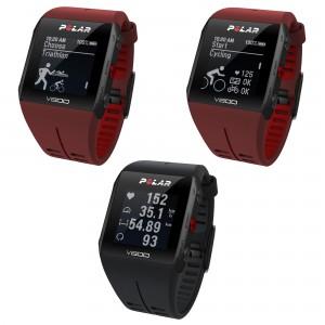 V800 GPS-Trainingscomputer rot, schwarz Triathlon, Radsport, Herzfrequenz 2016 von Polar