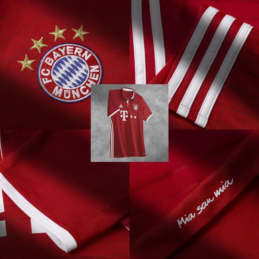 FC Bayern München Heimtrikot - Logo, Streifen, Mia san Mia 2016/17 von adidas