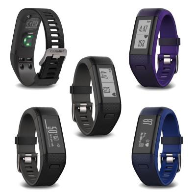 vivosmart HR+ mit GPS-Modul u. Herzfrequenzmessung am Handgelenk schwarz, blau 2016 von Garmin