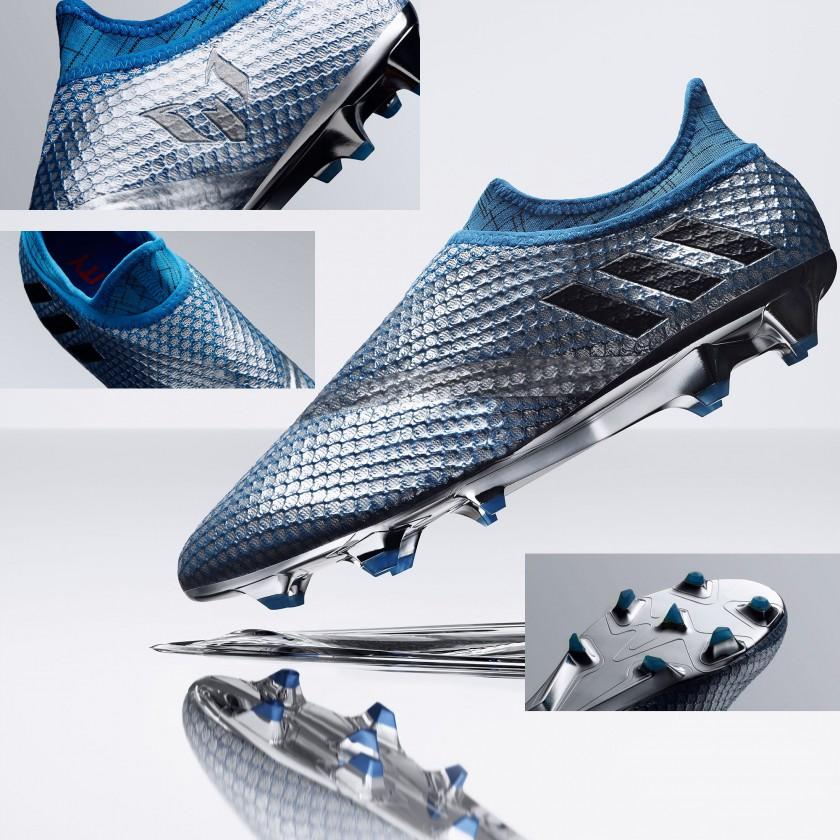 MESSI 16+ PUREAGILITY Mercury Pack Fußballschuhe seite, oben, sohle 2016 von adidas
