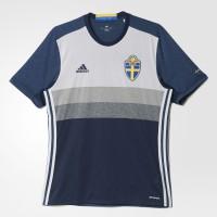Schweden Auswrtstrikot fr die EM 2016 von adidas