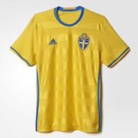 Schweden Heimtrikot fr die EM 2016 von adidas