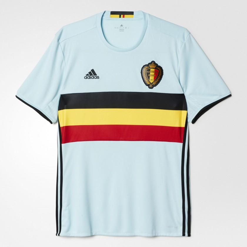 Belgien Auswärtstrikot für die EM 2016 von adidas