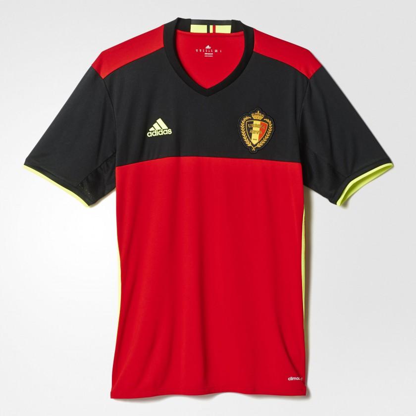 Belgien Heimtrikot für die EM 2016 von adidas
