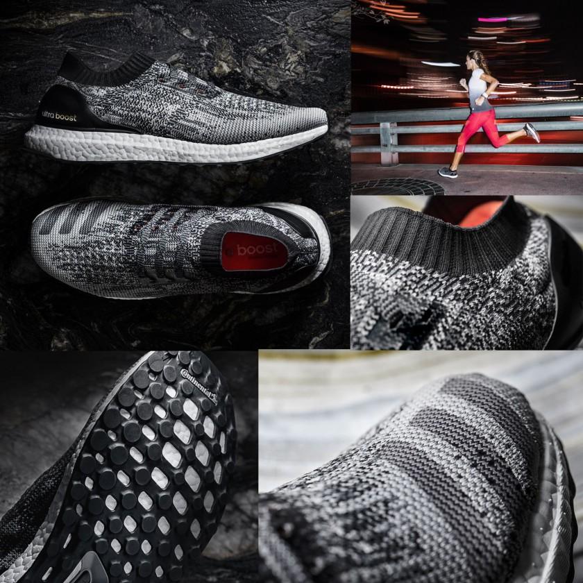 UltraBOOST Uncaged Laufschuhe seite, oben, sohle, action 2016 von adidas