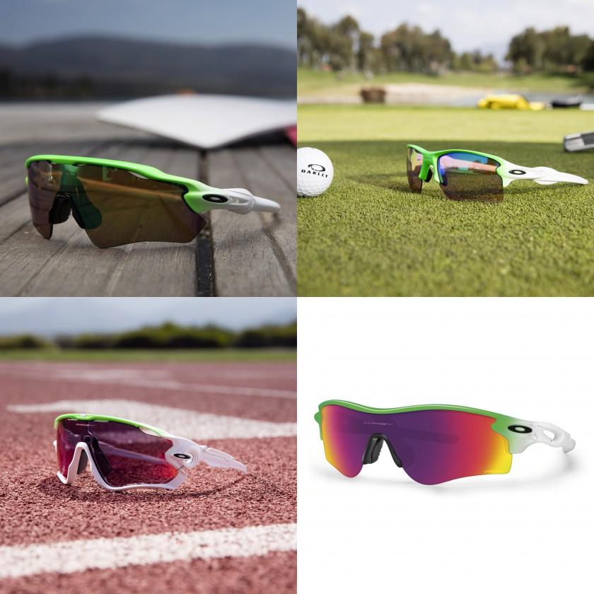 Green Fade Sportbrillen-Kollektion von Oakley 2016: Radar EV Path, Flake 2.0 FL, Jawbreaker, Radarlock Path