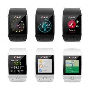 M600 Sport-Smartwatch schwarz, weiß front u.a. Wetter, Zeit, Aktivität, Herzfrequenz, Navigation 2016 von Polar