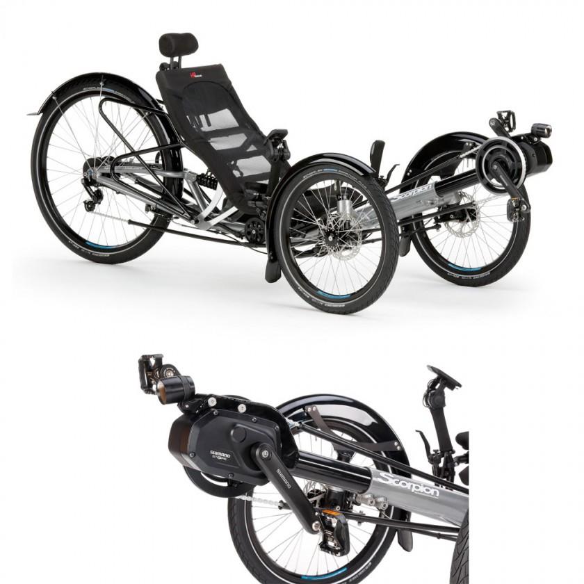 Scorpion plus 26 STEPS Elektro-Trike mit Automatikschaltung Di2 2017 von HP VELOTECHNIK