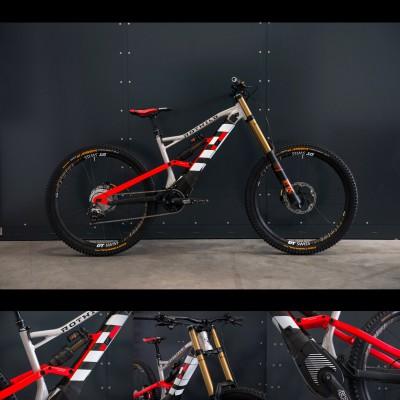 R.G+ FS E-Downhill Bike seite, Rahmen, Gabel, Motor 2017 von Rotwild