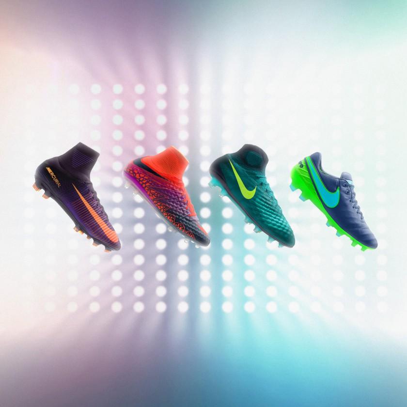 Nike Floodlights Pack 2016: Mercurial Superfly V, Hypervenom II Phantom, Magista 2 Obra und Tiempo Legend 6