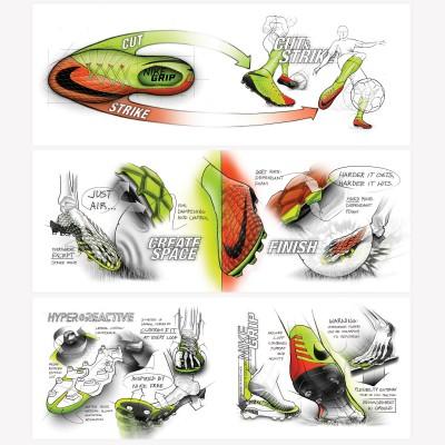 Hypervenom 3 Fuballschuhe - Skizzen 2017 von Nike