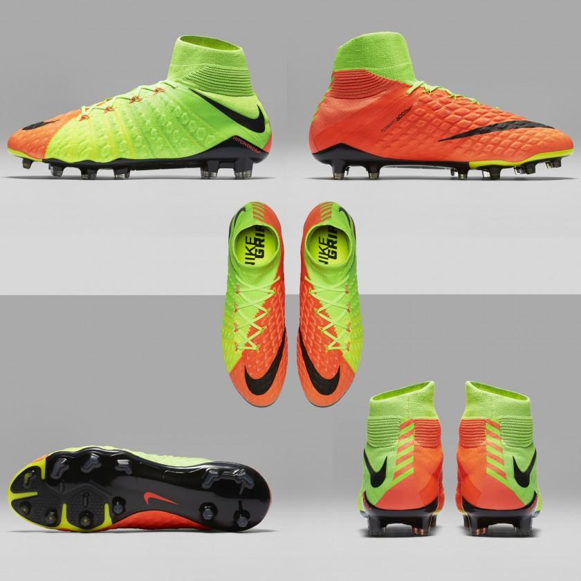 Hypervenom 3 Phantom Fußballschuhe - innen, außen, oben, sohle, hinten 2017 von Nike
