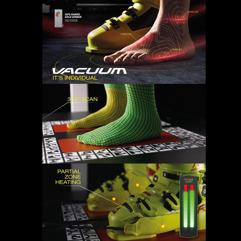 VACUUM 3D FOOT SCAN  VACUUM ZONE FIT 2017/18 von Fischer Sports