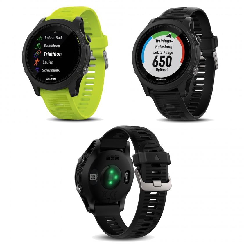 Forerunner 935 GPS-Multisport-Smartwatch mit Herzfrequenzmessung am Handgelenk grün, schwarz 2017 von Garmin