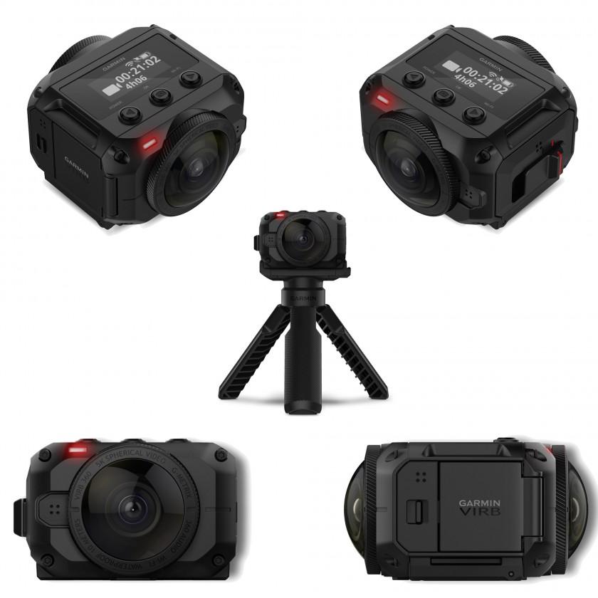 VIRB 360 Rundum-Action-Kamera oben, seiten, stativ 2017 von Garmin