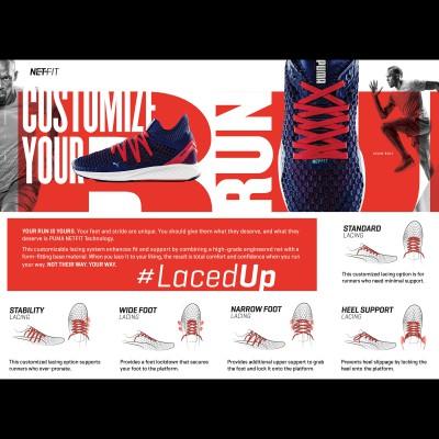 Customize your Run: LacedUp - NETFIT Technologie 2017 von PUMA
