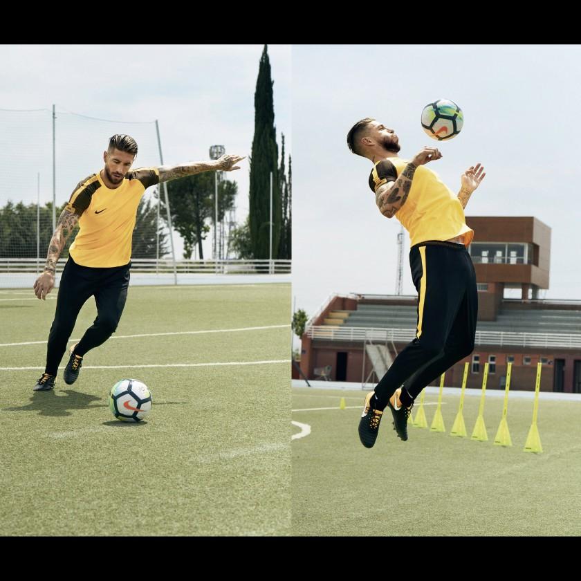 Sergio Ramos in Aktion im neuen Tiempo Legend 7 Fußballschuh 2017 von Nike