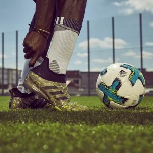 GLITCH Fußballschuhe mit wechselbarer Außenhaut - gold/schwarz 2017 von adidas