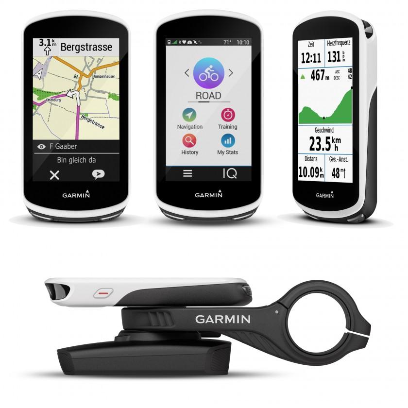 Edge 1030 GPS-Fahrradcomputer mit smarten Funktionen vorne, seitlich, Halterung 2017 von Garmin