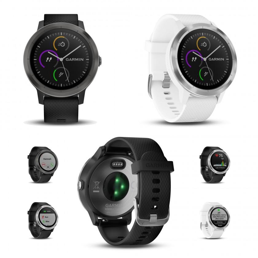 vivoactive 3 GPS-Multisport-Smartwatch schwarz  weiss 2017 von Garmin