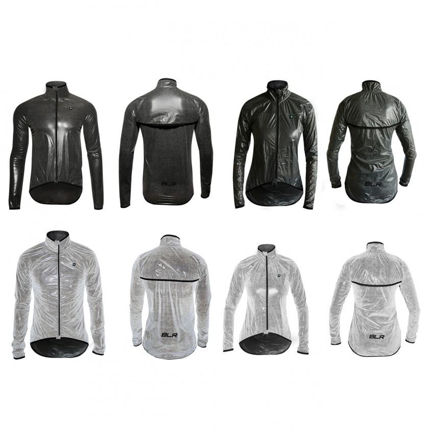 Wechselhaft Bike-Regenjacke Herren/Damen schwarz u. reflektierend 2017 von Biehler Sportswear