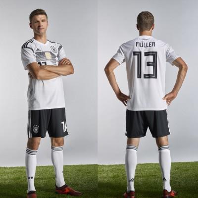 Thomas Mller im DFB-Heim-Trikot fr die WM 2018 von adidas