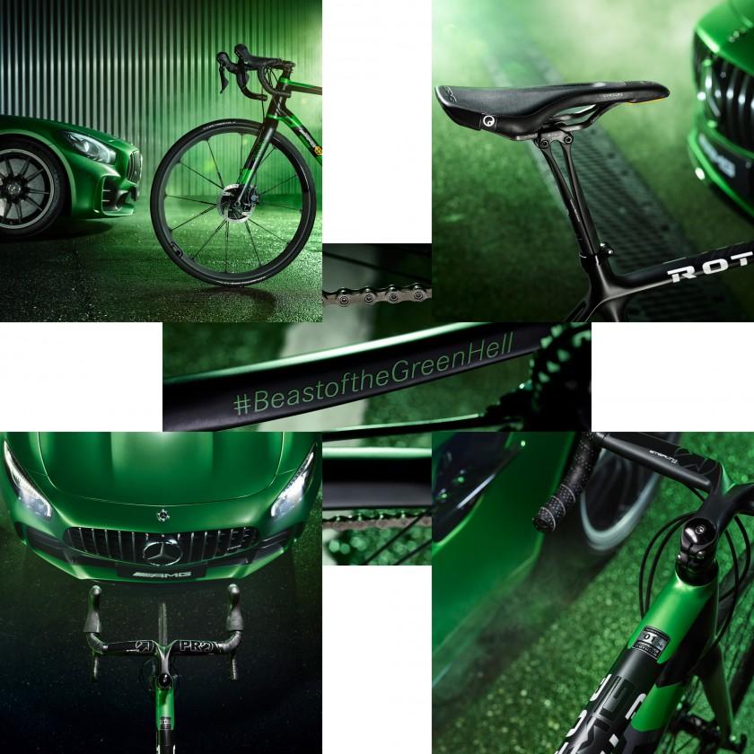 R.S2 Limited Edition Beast of the Green Hell Rennrad - Vorderrad, Sattel, Lenker, Kette 2017 von Rotwild