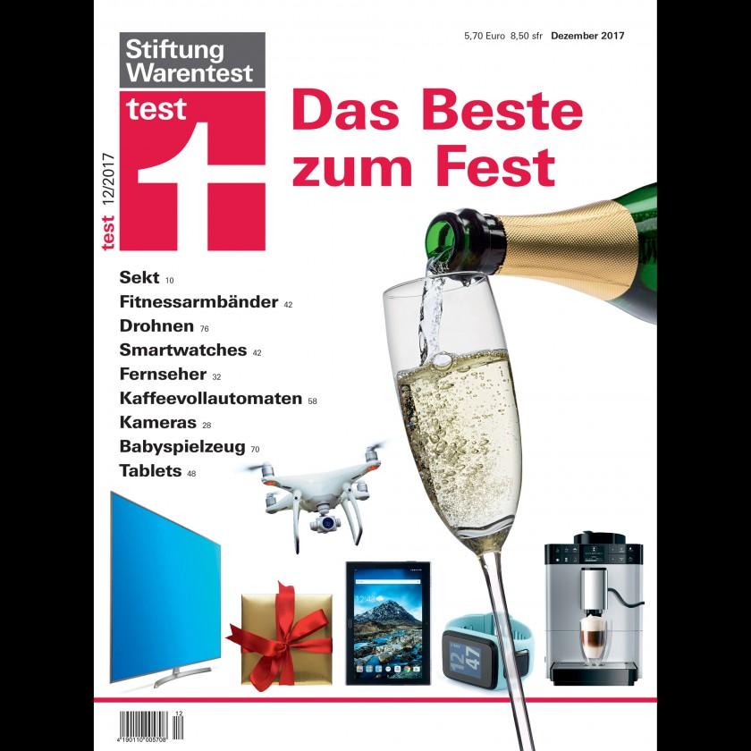 Stiftung Warentest Ausgabe 12/2017: Wearables Fitnessarmbänder, Laufuhren und Smartwatches im Test