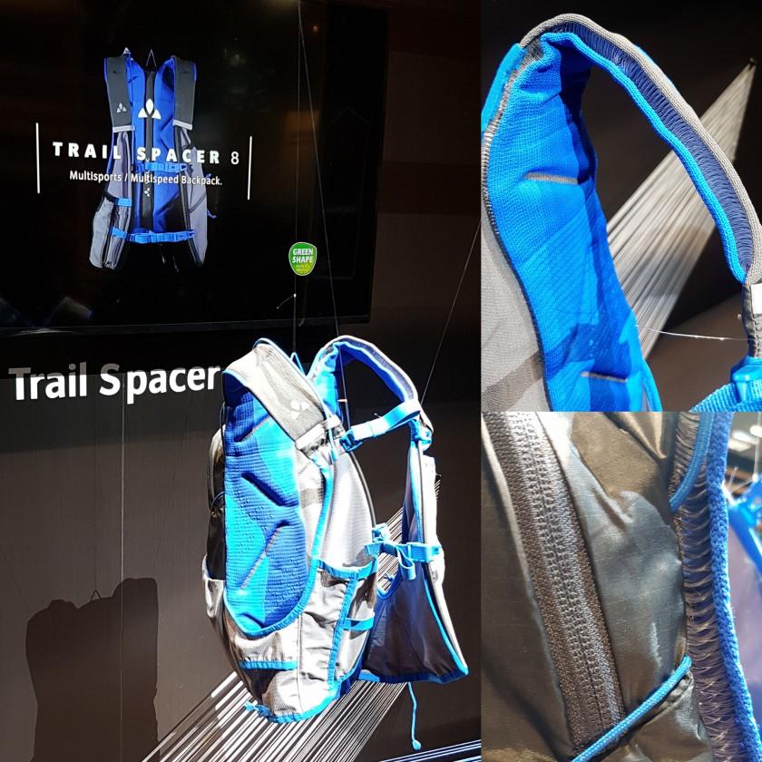 Trail Spacer 8 Rucksack 2018 von VAUDE aus 3D-Strickkonstruktion für perfekten Sitz und gute Ventilation