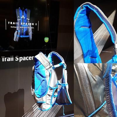 Trail Spacer 8 Rucksack 2018 von VAUDE aus 3D-Strickkonstruktion fr perfekten Sitz und gute Ventilation