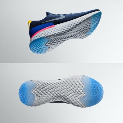 Epic React Laufschuhe seitlich, sohle 2018 von Nike