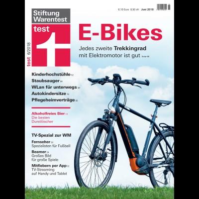 Stiftung Warentest Ausgabe 06/2018: Trekking-E-Bikes im Test