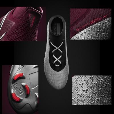 PhantomVSN Fuballschuh mit Ghost Lace-System geschlossen, offen, Quadfit, neues Stollensystem, Advancing Touch 2018 von Nike