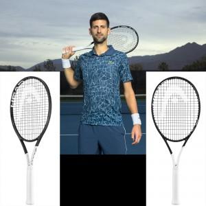Novak Djokovic mit seinem neuen Graphene 360 Speed MP Tennisschlger 2018 von Head