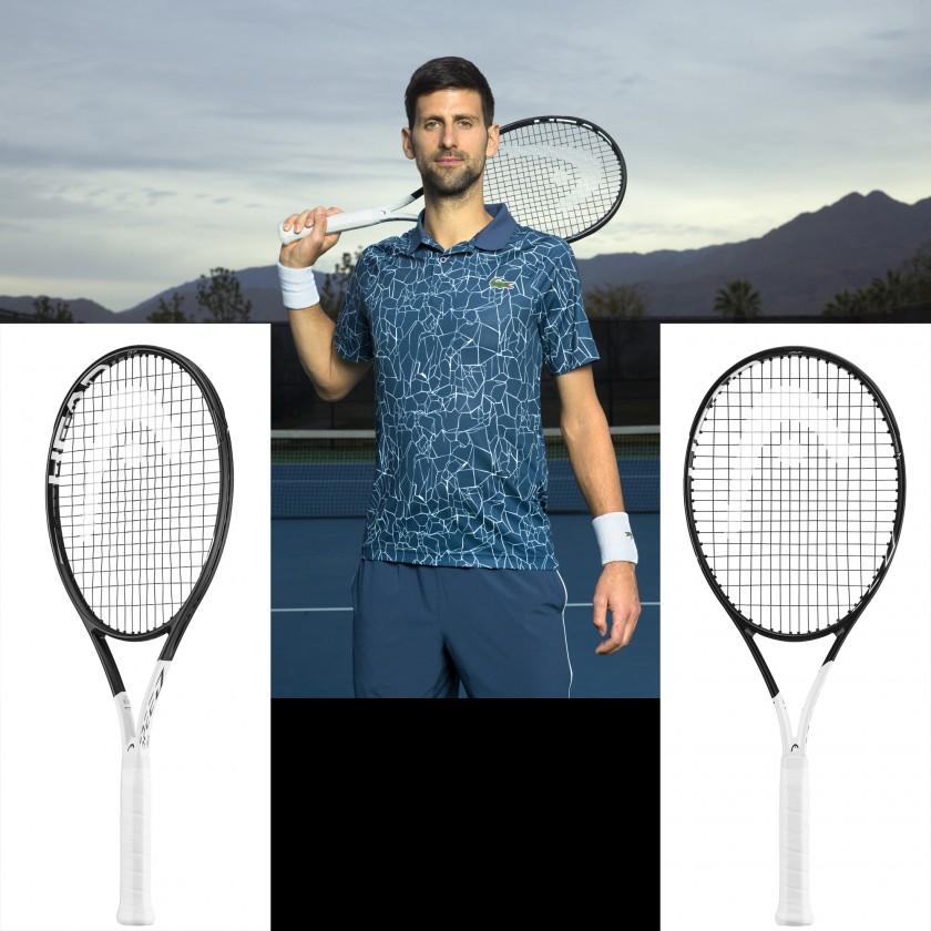 Novak Djokovic mit seinem neuen Graphene 360 Speed MP Tennisschläger 2018 von Head