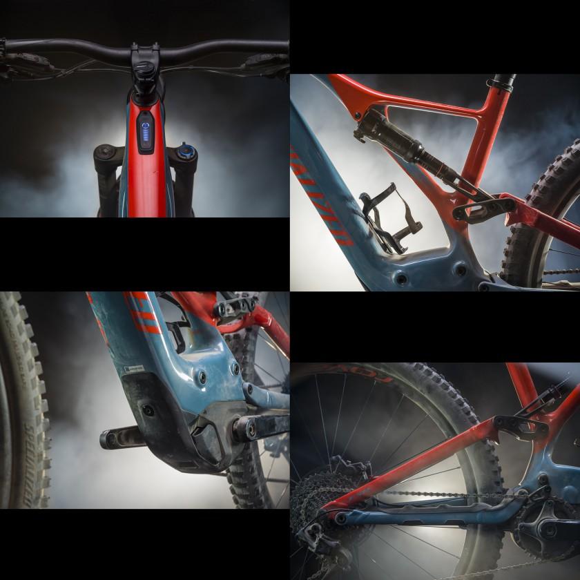 Levo Expert E-Mountainbike Details 2018 von Specialized: Cockpit, Dämpfer, Motor, Hinterbau