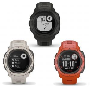 Instinct Outdoor-Smartwatch Navigation, Benachrichtigungen, Uhr 2018 von Garmin
